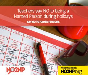 Teachers say NO