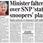 DM - minister falters over NP on radio phone in