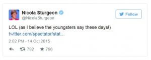 Sturgeon Tweet
